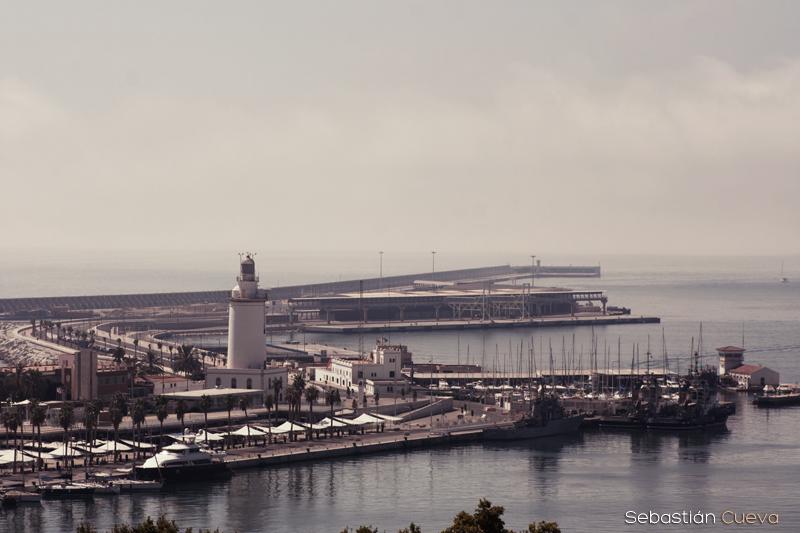 El puerto de Málaga - Foto de paisaje urbano