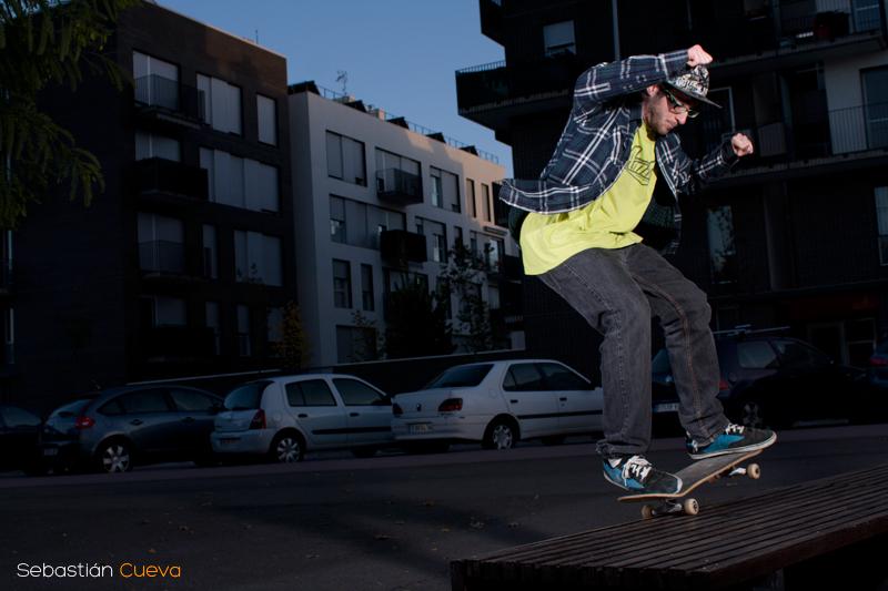 Sesion de fotos de Skateboard nocturna con Alex Delgado