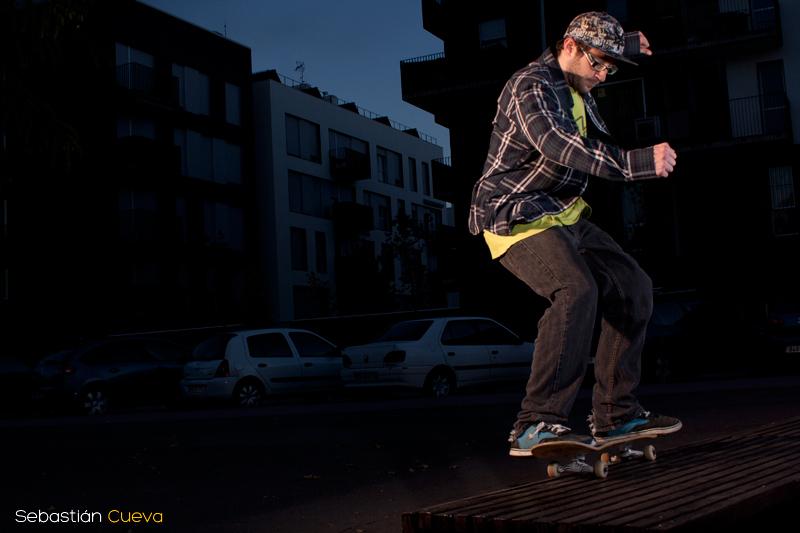 Sesion de fotos de Skateboard nocturna con Alex Delgado Foto 1