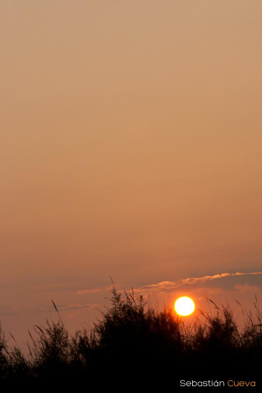 Fotografía de una puesta de sol